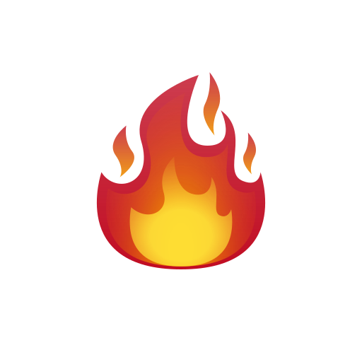 fire emoji png transparent - DesignBust