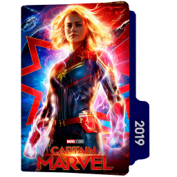 Captain Marvel 2019 Folder Icon- DesignBust