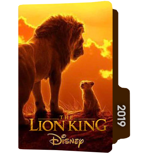The Lion King 2019folder Icon Designbust