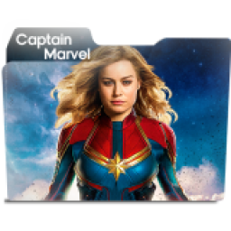 Captain Marvel Folder Icon Free Download