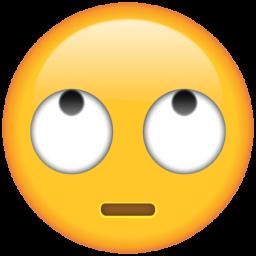 Emoji rolling eyes
